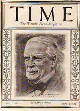1923 Time September 3 David Lloyd George;Osage Indians