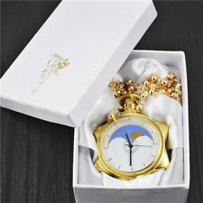 Sailor Moon 20th Anniversary Crystal Star Pocket Watch Necklace Pendant Cosplay