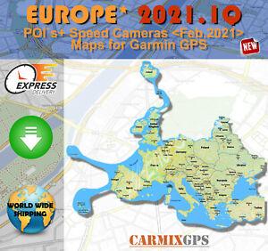 2021 EUROPE MAPS + POI + Speed Cameras -City Maps nt for Garmin GPS Navigator EU
