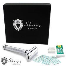Smooth Traditional Vintage Double Edge Safety Razor Gift Set + 10 Shaving Blades