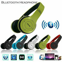 Noise Cancelling Bluetooth Wireless Headset Over Ear Headphones With Microphone