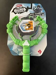 Wham-O Arctic Force Snowball Slingshot And Target Black/Green Winter Fun