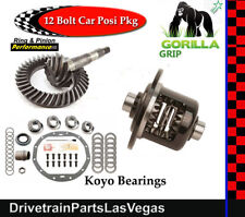 GM 8.875 Chevy 12 Bolt Car 3.73 Ring Pinion Gears Posi Kit Pkg Gorilla Grip Koyo