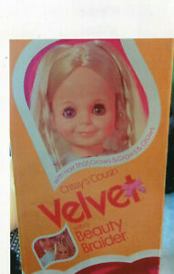 1973 Ideal Velvet Doll with Beauty Braider in the original box. Crissy's Cousin.