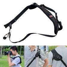 New Camera Sigal Shoulder Sling Belt Neck Strap For Nikon Canon DSLR Black