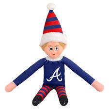 Atlanta Braves Plush Christmas Elf - MLB Doll On The Shelf Stuffed Toy