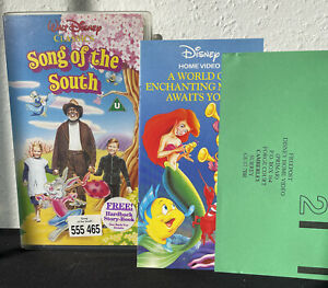 Rare Disney Song Of The South Vhs Video discontinued Inc original leaflets