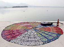 Indien Travail De Patch tapisserie ronde jet tapis de yoga ronde bohème plage