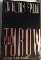 The Burden of Proof by Scott Turow 1st Edition Signed