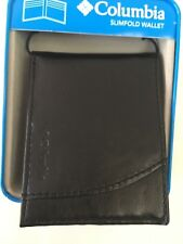 Columbia Slimfold Wallet Bifold Black New with Tag 31CP1302