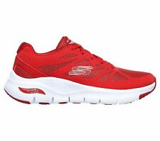 Skechers Arch Fit [149055RED] Women Running Walking Shoes Red/White