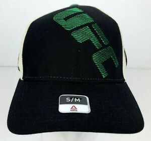 UFC Black & Green Fitted Hat Size S/M w/ Stitched Logo UFC Licensed NWT