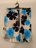 Men's Ripcurl Blue and White Size 36 Board Shorts