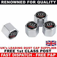 AUDI Chrome Wheel Tyre Valve Dust Caps for A1 A2 A3 S3 RS3 A4 S4 RS4 S5 RS5 S6