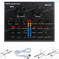 Sound Card USB Powered Live Audio Mixer Digital Effects mini USB 3.5mm Inputs
