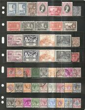 Asia - Older Stamps - Malaya States on Two Sided Card.