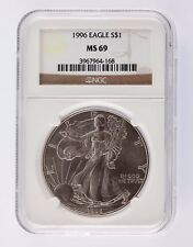 1996 Silver 1oz American Eagle $1 NGC Graded MS 69