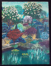 Edith Lunt Small - Acrylic On Board Painting - Garden Landscape