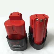 NEW 2x Brand #Milwaukee M12 Red batteries 12V 2.0Ah Compact Li-ion Battery Pack