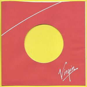 VIRGIN RECORDS (red/green) REPRODUCTION RECORD COMPANY SLEEVES - (pack of 10)