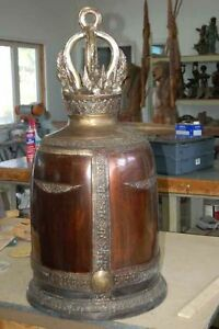 "Huge Temple Church Bell Bronze Buddhist 18""x35"""