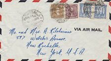 1946 Uruguay Airmail Cover to Us, hand stamped