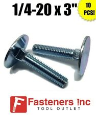 200 Flat Elevator Bolt 1//4-20 x 1 Flush Mount Zinc Plated