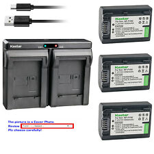 Kastar Battery Dual Charger for Sony NP-FV50 Sony HDR-CX200 HDR-CX210 HDR-CX220