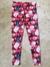 NEW Modern Lux Women's Legging Pants Christmas Ornament Graphic Print Size M