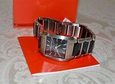 New $225 Kenneth Jay Lane Women's Watch KJL-1601 Black Dial Stainless Steel
