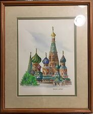 Russian Orthodox Church * Water Color* Signed Dorothy Stuart