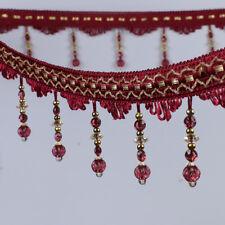1m Curtain Sewing Tassel Fringe DIY Trim Tassel Crystal Bead Lace Accessory New