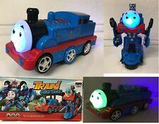CLASSIC TRAIN TRANSFORMERS ROBOT BUMP & GO CAR LIGHTS SOUND BOYS GIRLS TOYS