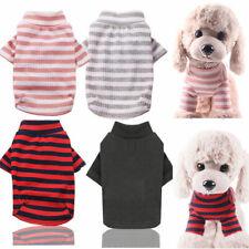Pet Dog Shirt Striped Clothes Elastic T-shirt Small Puppy Cat Vest Coat Costumes