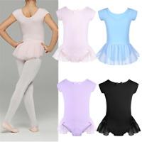 Girl Kid Ballet Leotard Dress Gymnastic Tutu Hip Skirt Dancewear Dancing Costume