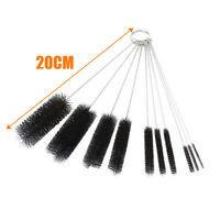 10 x Nylon Brushes Lab Tube Cleaning Tool Kitchen Bottle Washing Brush Kit #LKUS
