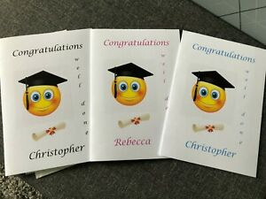 PERSONALISED graduation Card-Daughter ,brother  Granddaughter any name added