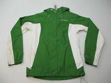 COLUMBIA Jacket Men's Size S Waterproof Full Zip OMNI-TECH Green/White Hooded