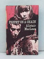 Puppet on a Chain by Alistair MacLean vintage companion book club HB dust jacket
