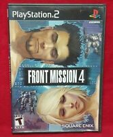Front Mission 4 - PS2 PlayStation 2 -1 Owner Near Mint Disc Complete Square Enix