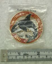 1991 Fur Rendezvous Pin Rondy Anchorage Alaska Orca Killer Whale Sn421