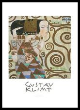Gustav Klimt L attessa Poster Bild Kunstdruck mit Alu Rahmen in schwarz 70x50cm
