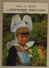 LISTE PRENOMS BRETONS FILLES Brittany girls surnames postcard
