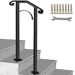 Fits 1 or 2 Steps Handrail #1 Matte Black Decoration Paver Steps Stylish Design