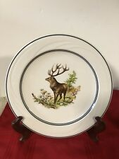 10.5� Rykoff-Sexton By Syracuse China Plate Elk/Deer Antlers Ribbed Swirl Design