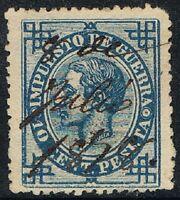 [CF4104] España 1876, Impuesto de Guerra, 10 cent., matasellado (U)