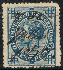 España 1876, Impuesto de Guerra, 10 cent., matasellado (c)