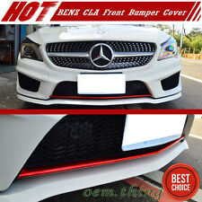 Painted Red Mercedes BENZ CLA W117 Sedan Front Bumper Lip Cover CLA45 CLA250 16