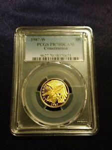 1987 W Constitution Bicentennial $5 Gold Coin PCGS PF 70 DCAM