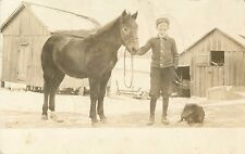 """This Is A Picture Of The Colt, Dog, & Frank"", Sebring Ohio OH RPPC 1913"